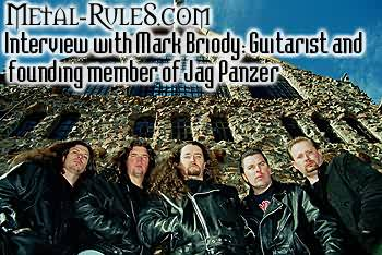 Interview with Mark Briody, guitarist and founding member, of Jag Panzer