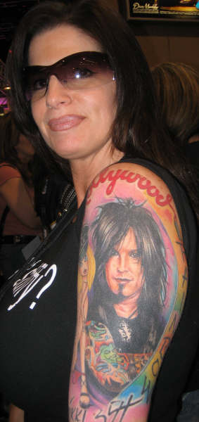 Babe with a Nikki Sixx tatt