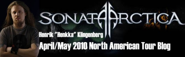 Sonata Arctica Tour Blog