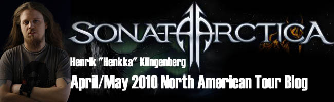 Sonata Arctica Tour Blog