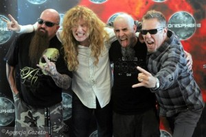 Kerry King, Dave Mustaine, Scott Ian, and James Hetfield