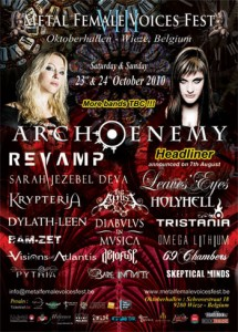 Metal Female Voices Fest in Belgium