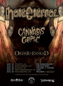 ORDER OF ENNEAD ANNOUNCES DATES WITH HATE ETERNAL AND CANNABIS CORPSE
