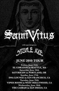 Saint Vitus / Stone Axe Tour Poster