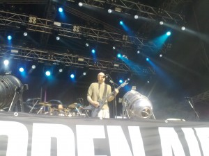 Devin townsend on stage at TUSKA. Photo by Arto Lehtinen of Metal-Rules.com