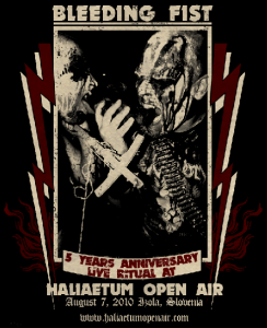 BLEEDING FIST celebrate 5th anniversary at this year's Haliaetum Open Air