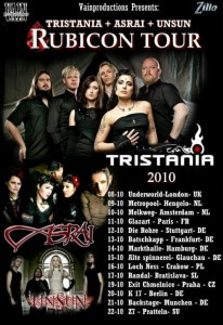 UNSUN to tour Europe with TRISTANIA