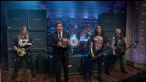 Slayer on Late Night with Jimmy Fallon - Aug 10 2010
