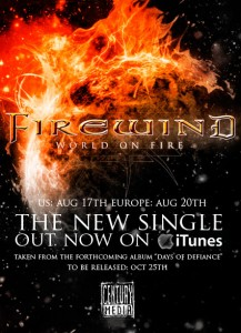 FIREWIND Release New Digital Single; Post Audio Snippet On Their MySpace