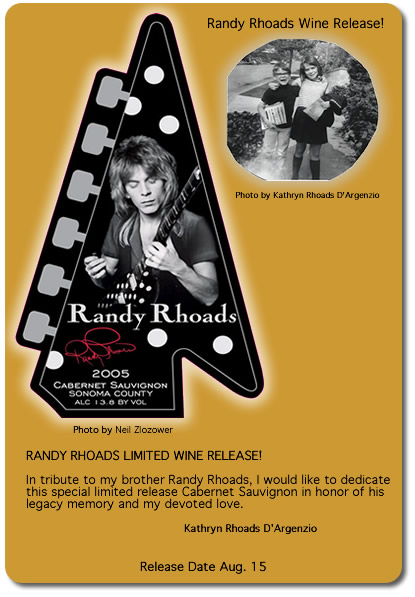RANDY RHOADS Wine