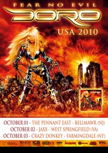 Doro Pesch - 2010 U.S. Mini Tour
