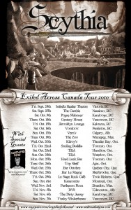 "Scythia Announce ""Exiled Across Canada"" Tour Dates"