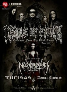 Cradle Of Filth announces February 2011 headlining North American tour