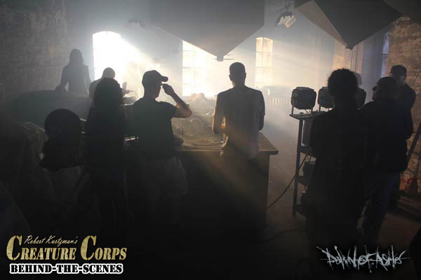 Behind-the-scenes  of the DAWN OF ASHES music video with Robert Kurtzman's CREATURE CORPS:
