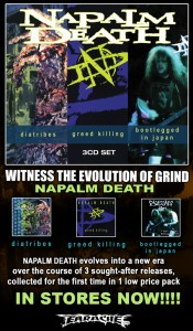 NAPALM DEATH - DIATRIBES/GREED KILLING/BOOTLEGGED IN JAPAN 3 CD SET
