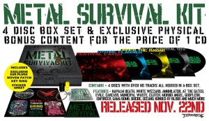 'METAL SURVIVAL KIT' 3CD & 1DVD BOX SET AVAILABLE TO PRE-ORDER NOW