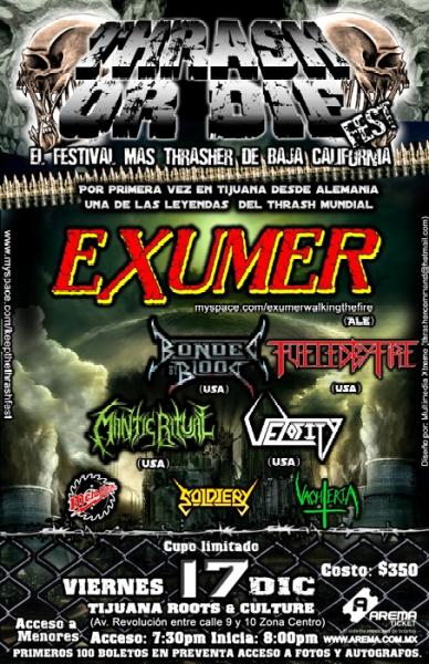 """Thrash or Die"",  festival in Tijuana/Mexico on December 17, 2010."
