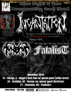 INCANTATION Gears Up For Decibel's Hall Of Fame Shows