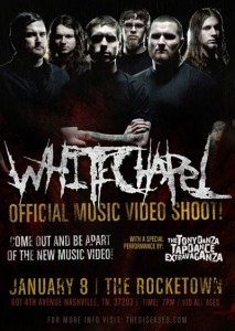 "WHITECHAPEL set to film live music video for the track ""Breeding Violence"""