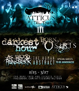 """Atticus Metal"" Tour With Darkest Hour and Born of Osiris"