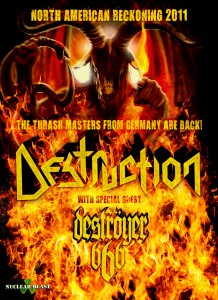 DESTRUCTION ANNOUNCE 2011 NORTH AMERICAN TOUR
