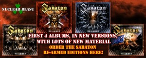 SABATON: BACK CATALOGUE TO BE RE-ISSUED BY NUCLEAR BLAST