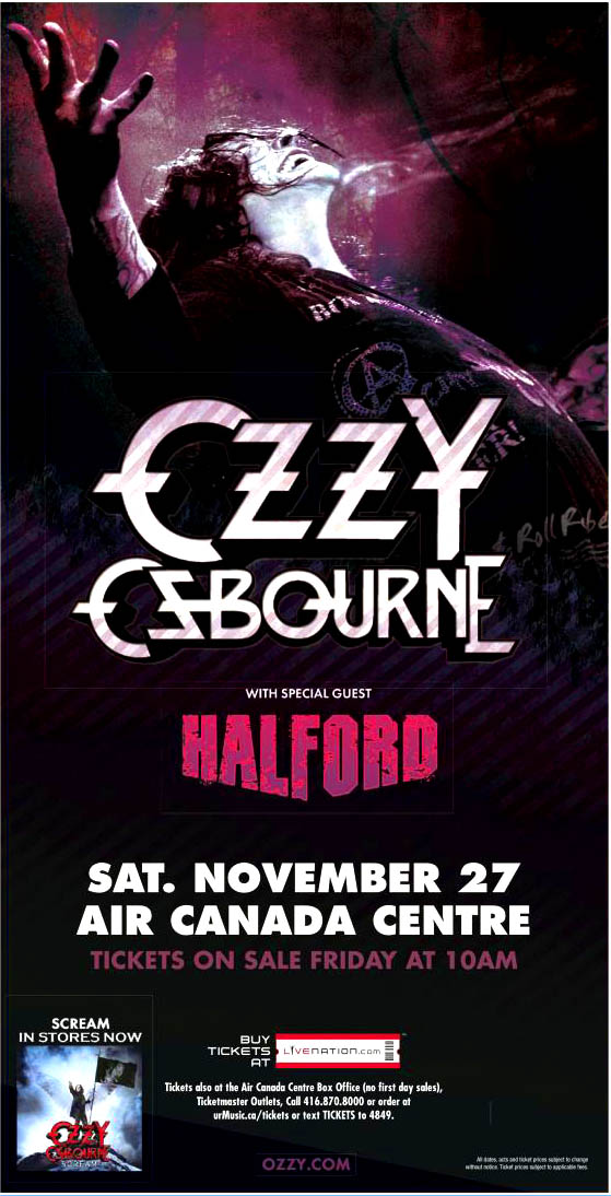 OZZY with Halford in Toronto