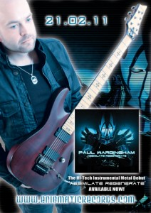 "PAUL WARDINGHAM: Releases Solo Instrumental Metal Album ""Assimilate Regenerate"""