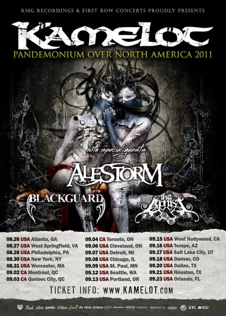Kamelot - North America Tour 2011
