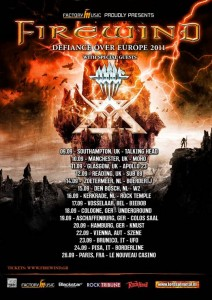 FIREWIND - Announce 'Defiance Over Europe' European tour dates 2011