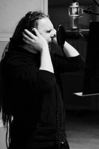 Rafał Piotrowski recording vocals