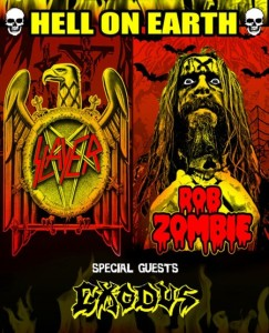 Slayer - North American Tour With Rob Zombie and Exodus