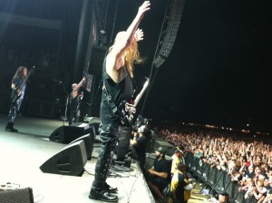 Jeff Hanneman live on stage at the BIG 4!