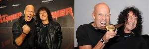 ACCEPT's Wolf Hoffmann and Peter Baltes celebrate their Metal Hammer Award in Berlin!