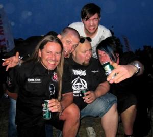 Carnal Forge @ Rock Weekend 2010. Lars Lindén, Chris Barkensjö, Petri Kuusisto, Dino Medanhodzic, Peter Tuthill