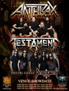 ANTHRAX, TESTAMENT, DEATH ANGEL TO BRING THRASH-FEST EXTRAVAGANZA TO CANADA AND SELECT U.S. CITIES