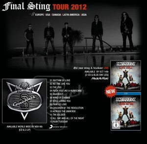 SCORPIONS - Final Sting Tour 2012