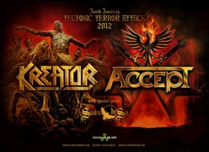 ACCEPT & KREATOR ANNOUNCE TEUTONIC TERROR ATTACK 2012 TOUR