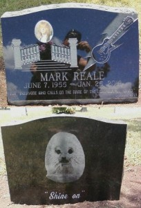 "As posted to the band's official facebook page: ""Went to vist Mark and took some pix of his headstone (front and back) Marks Official headstone ceremony this Sat, Aug. 11th @ 10am at Holy Cross Cemetary (17501 Nacogdoches Rd) in San Antonio, Texas (behind Rolling Oaks Mall) Public invited................Shine On!....DVS"""