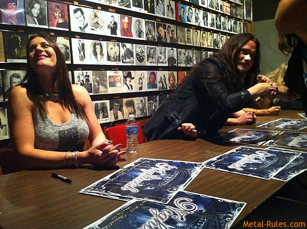 Nightwish meet & greet in the Diamond Ballroom in Oklahoma City. Pic courtesy of http://floorjansen.com/blog/third-tour-nightwish-tour-usa