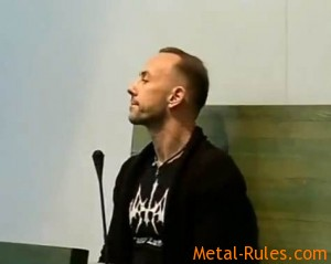 "Adam ""Nergal"" Darski in court (Monday, October 29)"