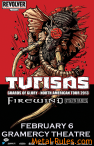 Turisas - 2013 concert poster