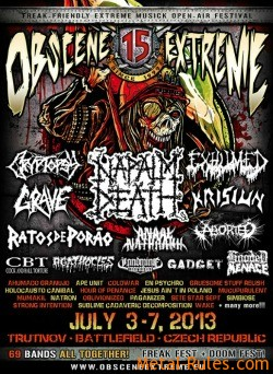 15 years of Obscene Extreme Festival in Czech Republic
