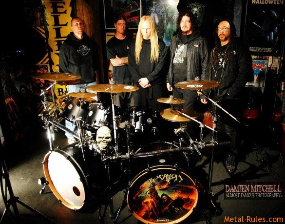 "Suffocation on the set of the ""As Grace Descends"" video shoot"