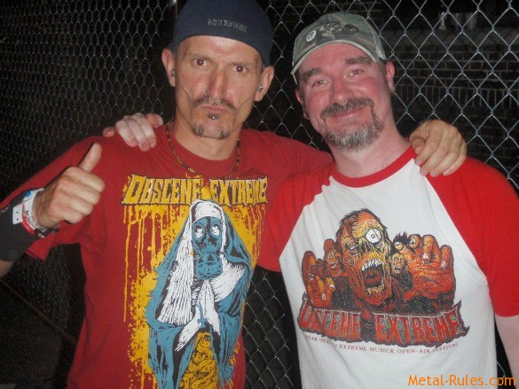 Curby with Jeff Walker (Carcass)