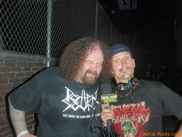 Curby with Shane Embury (Napalm Death)