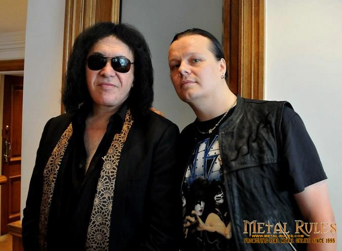 Marko With Gene Simmons in London, England.