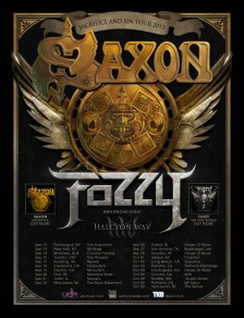 "SAXON and FOZZY announce North American ""Sacrifice & Sin"" tour"