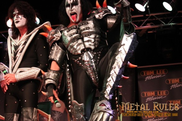 KISS Press conference, 40th anniversary tour, Tom Lee Music, Vancouver, July 4th, 2013