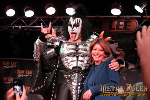 KISS Press conference, 40th anniversary tour, Tom Lee Music, Vancouver, July 4th, 2013 - With Mayor Diane Watts